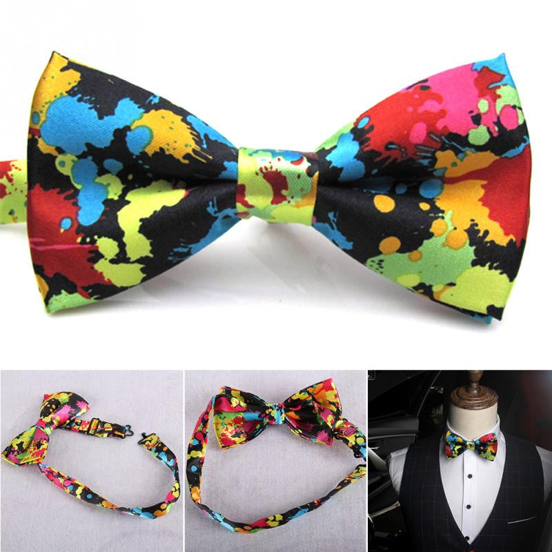 Mixed Paint Bow Tie - Luna's Warehouse