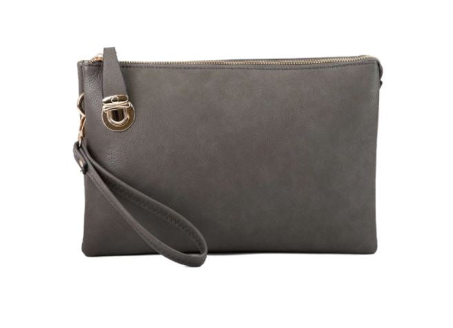 Clutch/Crossbody Purse - Charcoal Grey