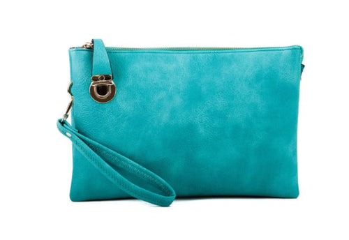 Clutch/Crossbody Purse - Turquoise