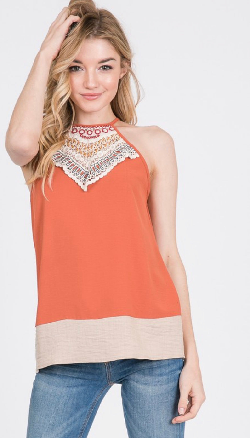 Carefree Summer Halter Top