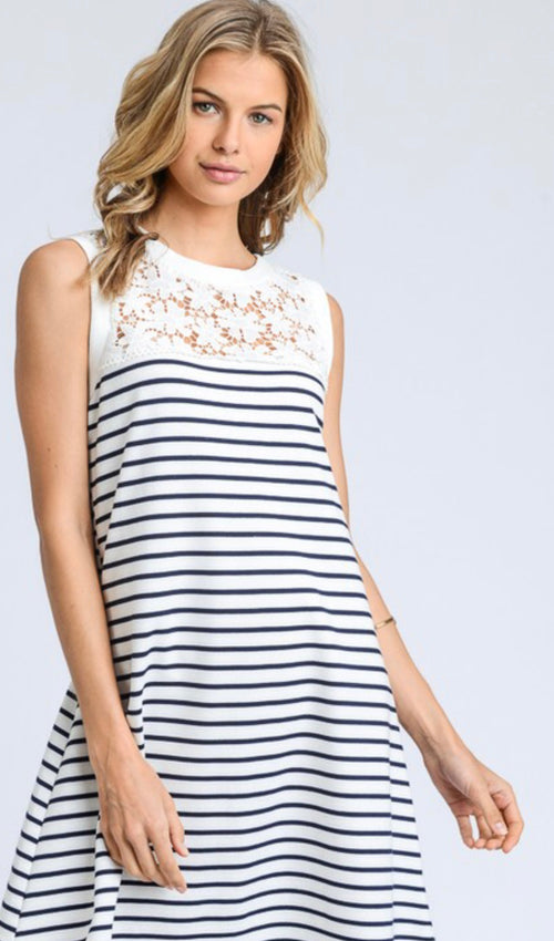 Fit & Flare Striped Dress