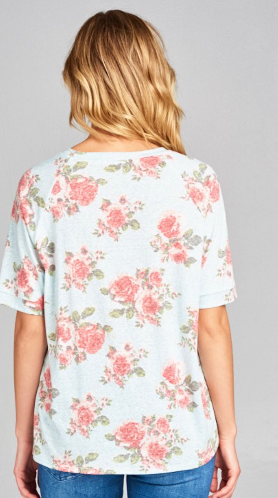 Falling for You Floral Tunic Top - Mint
