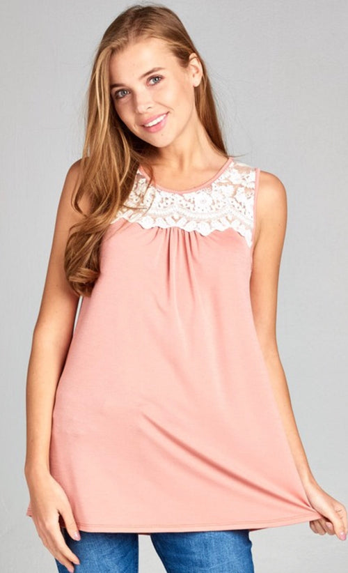Just Peachy Lace Top