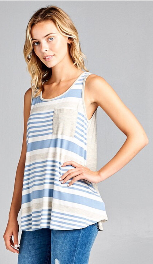 All About the Stripes Tank Top