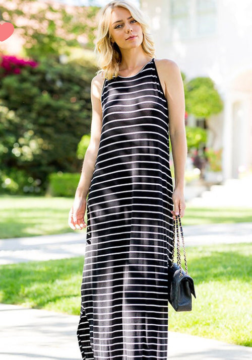 Sweet Lovely Striped Maxi Dress