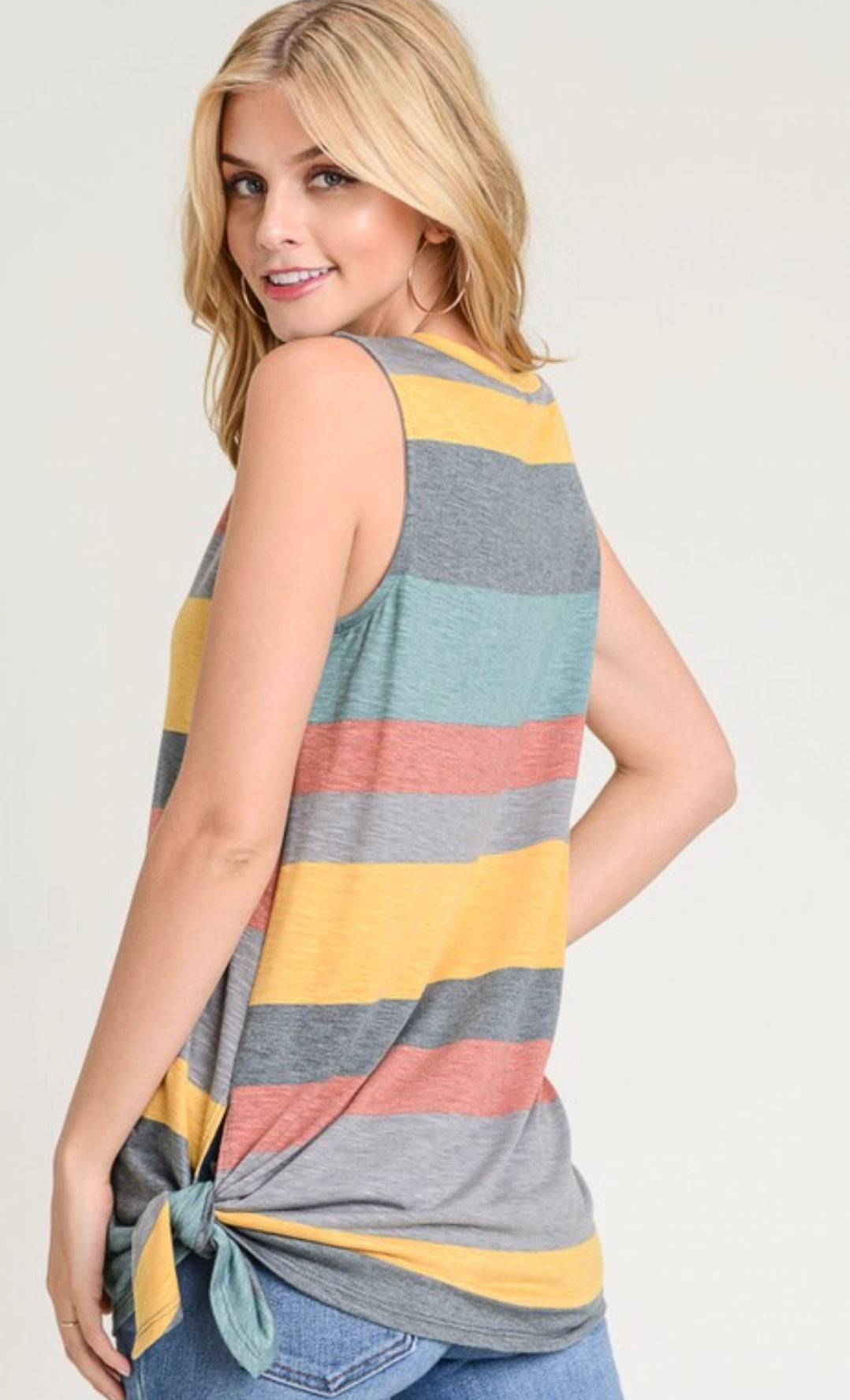 First Love Striped Tank Top