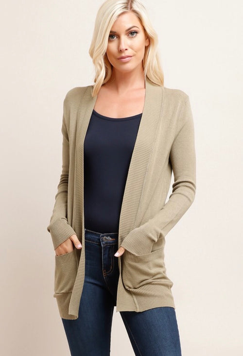 Essential Cardigan - Sage