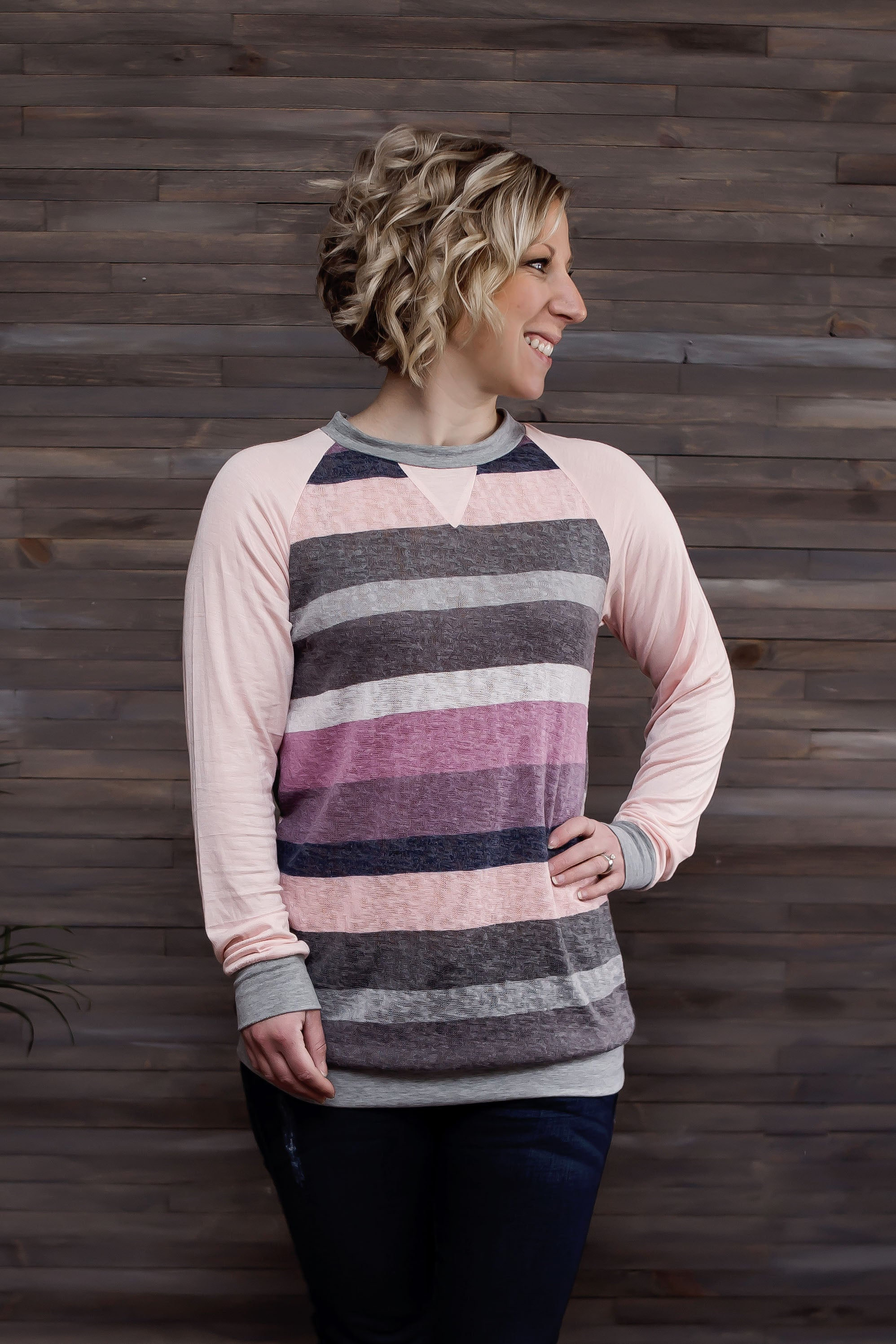 Comfort Granted Striped Top - Pink