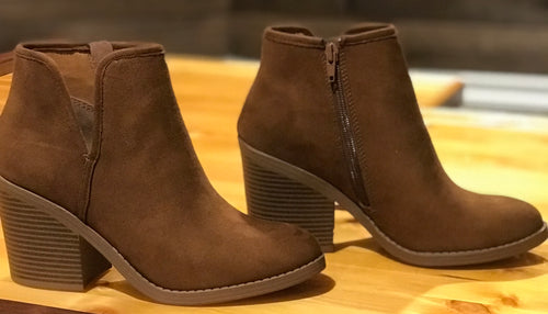 Chic Chestnut Booties
