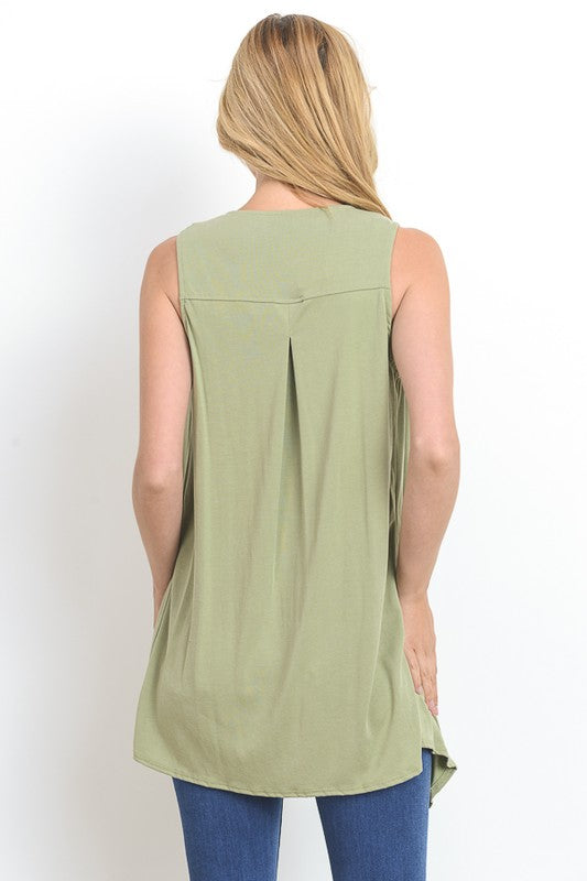 Be Chic in Sage Vest