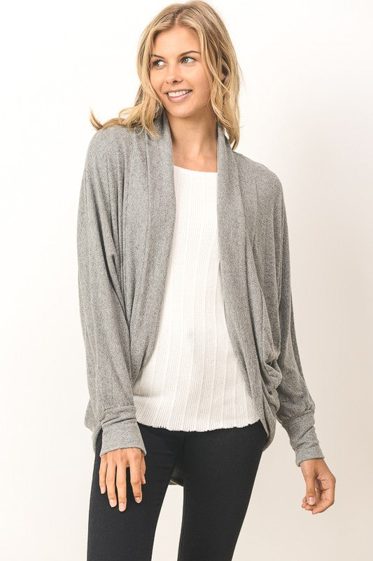 Must Have Comfort and Class Cardigan - Grey