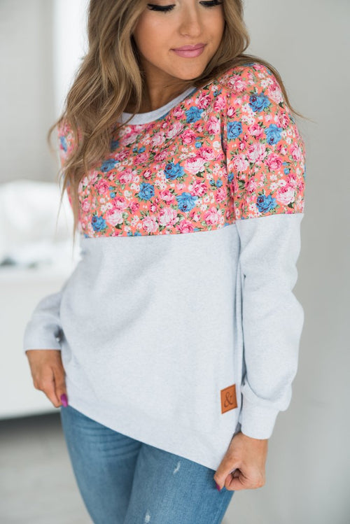 Ampersand Ave - Floral Accent Pullover