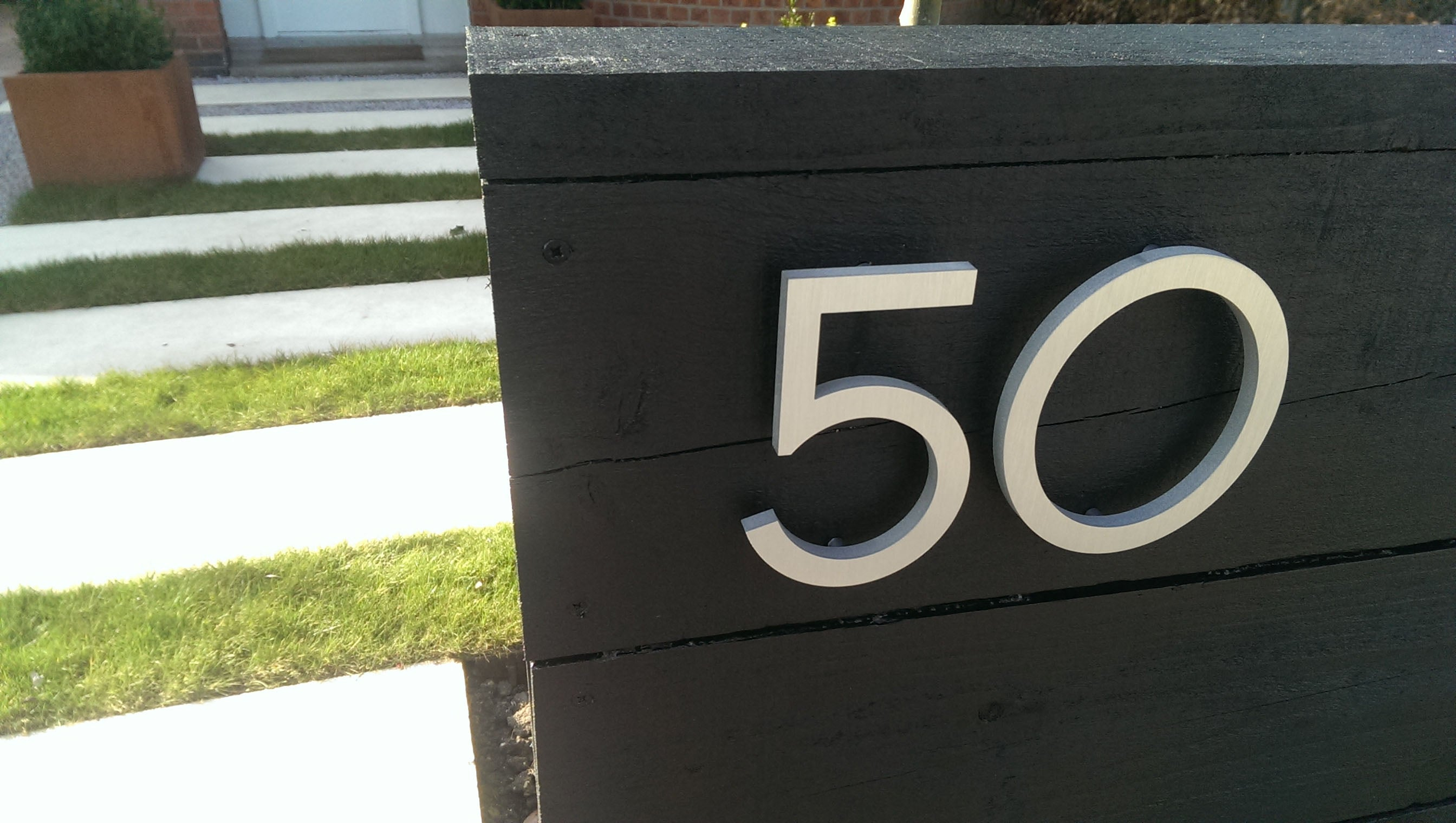Design And Fabrication Of Modern House Numbers And Letters For Homeowners,  Architects, Builders, And Project Managers.