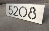 Modern Address Plaque