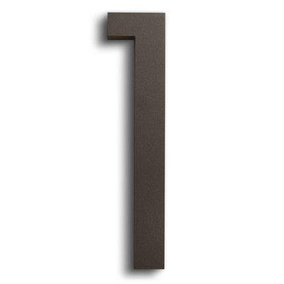 HOUSE NUMBERS MODERN FONT ONE 1  BRONZE