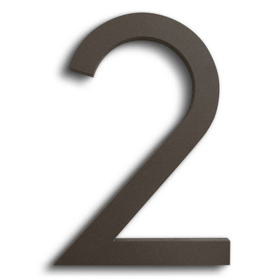 HOUSE NUMBERS MODERN FONT TWO 2  BRONZE