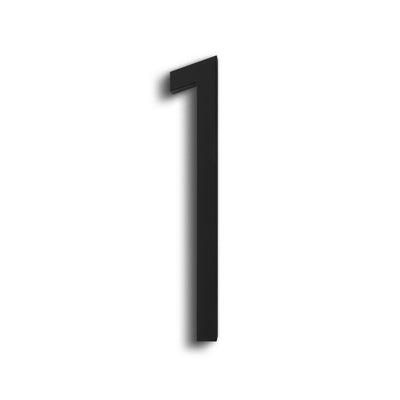 HOUSE NUMBERS CONTEMPORARY IN BLACK 1 ONE