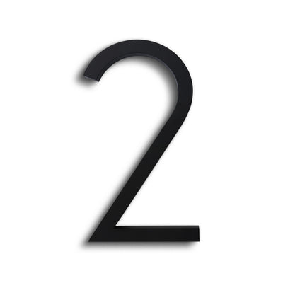 HOUSE NUMBERS CONTEMPORARY IN BLACK 2 TWO