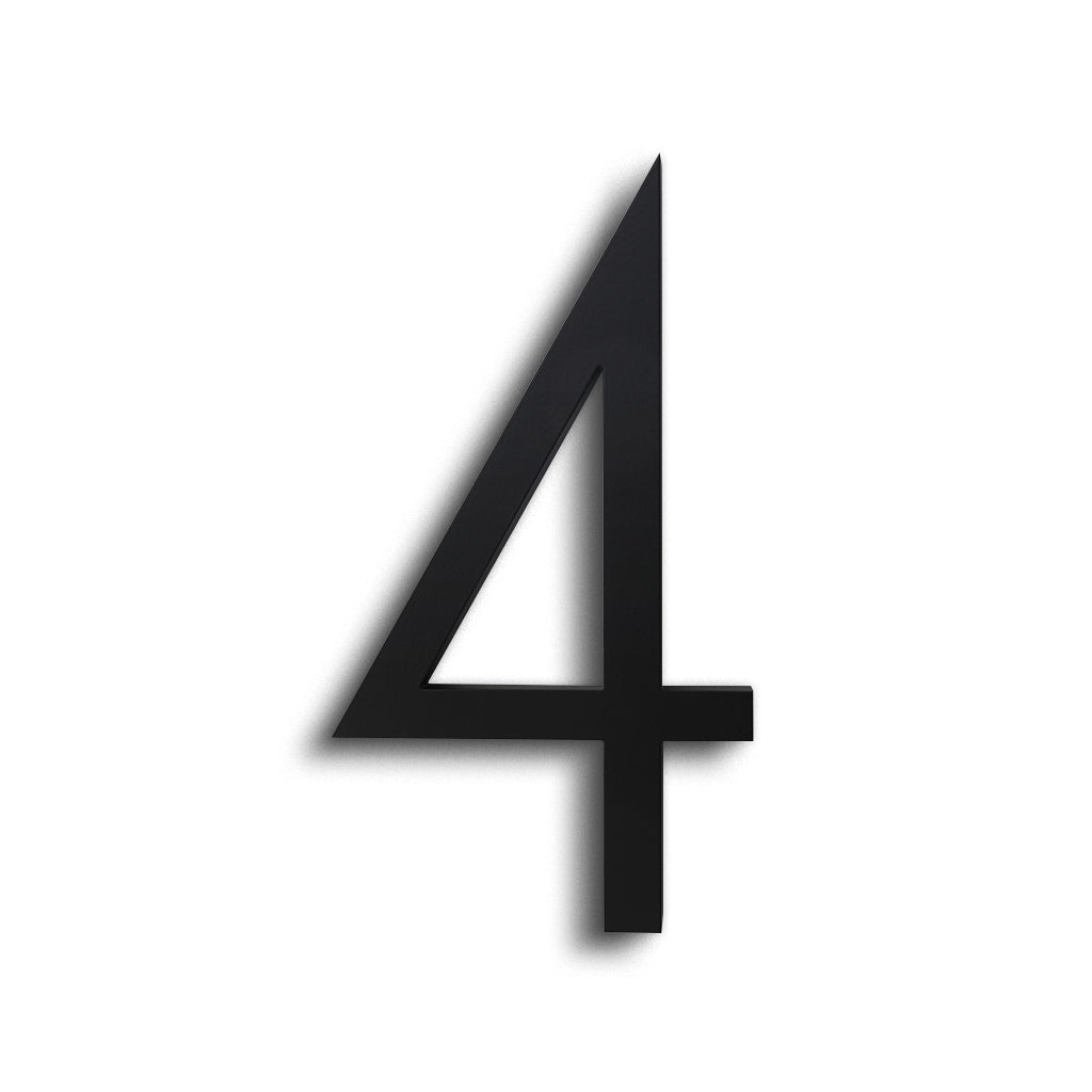 HOUSE NUMBERS CONTEMPORARY IN BLACK 4 FOUR
