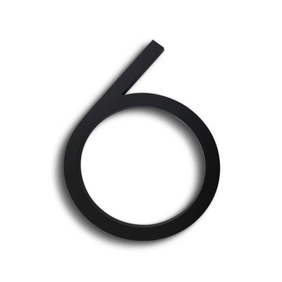 HOUSE NUMBERS CONTEMPORARY IN BLACK 6 SIX