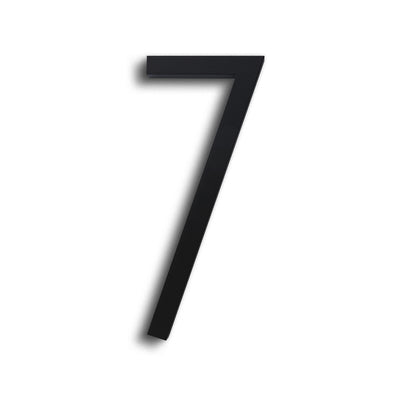HOUSE NUMBERS CONTEMPORARY IN BLACK 7 SEVEN
