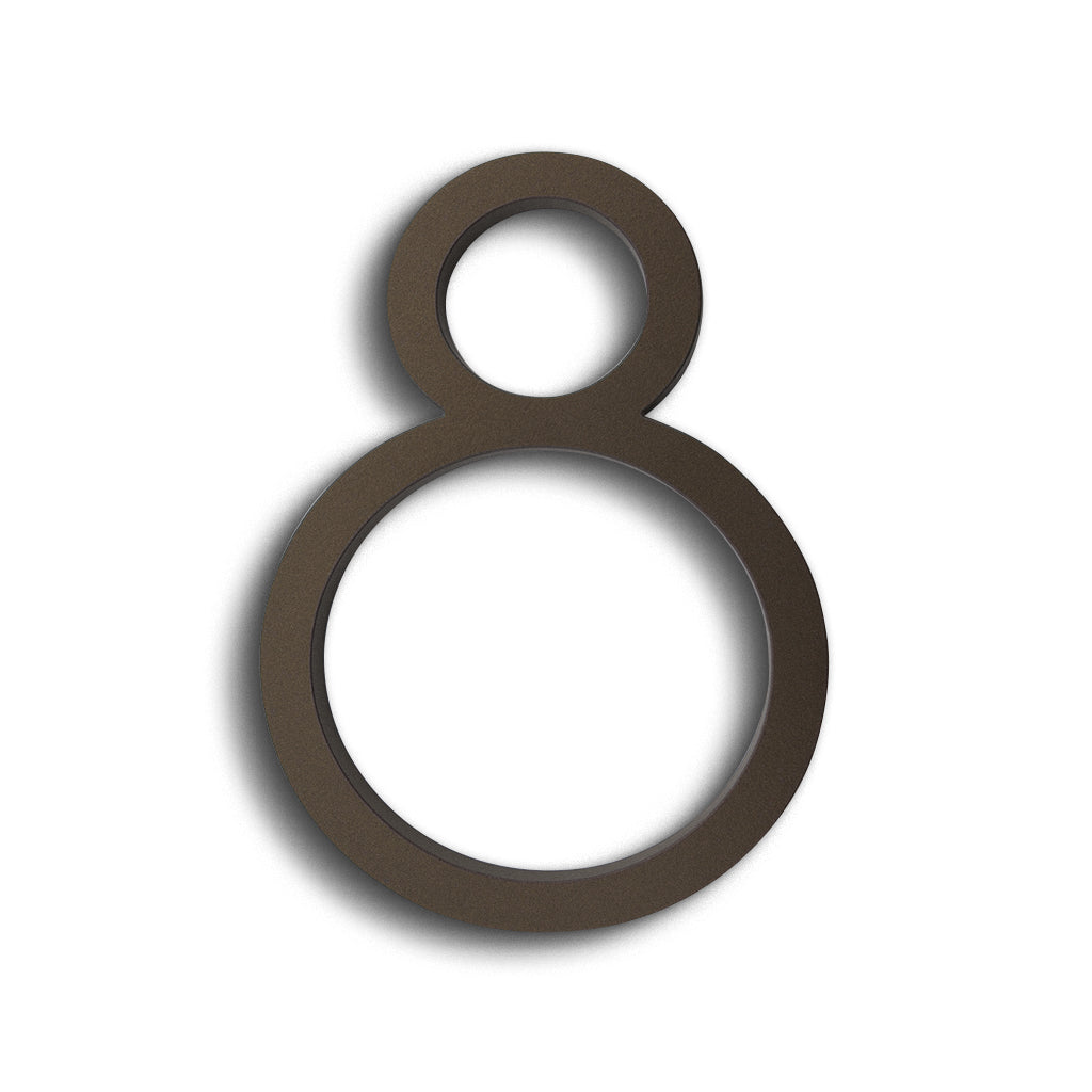 HOUSE NUMBERS CONTEMPORARY IN BRONZE 8 EIGHT