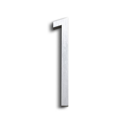 HOUSE NUMBERS CONTEMPORARY IN BRUSHED 1 ONE
