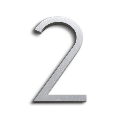 HOUSE NUMBERS CONTEMPORARY IN BRUSHED 2 TWO