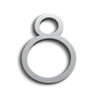 House Numbers Contemporary In Brushed Finish 8 Eight