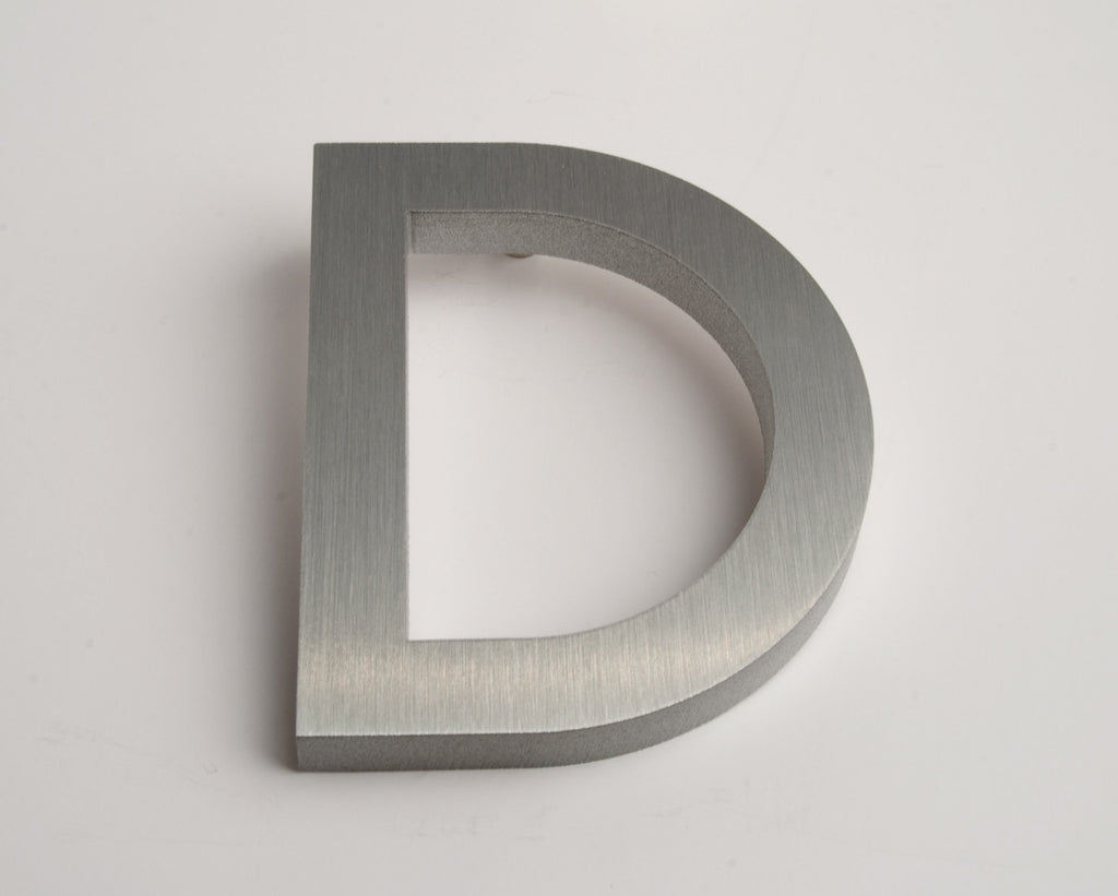 MODERN HOUSE LETTERS BRUSHED D