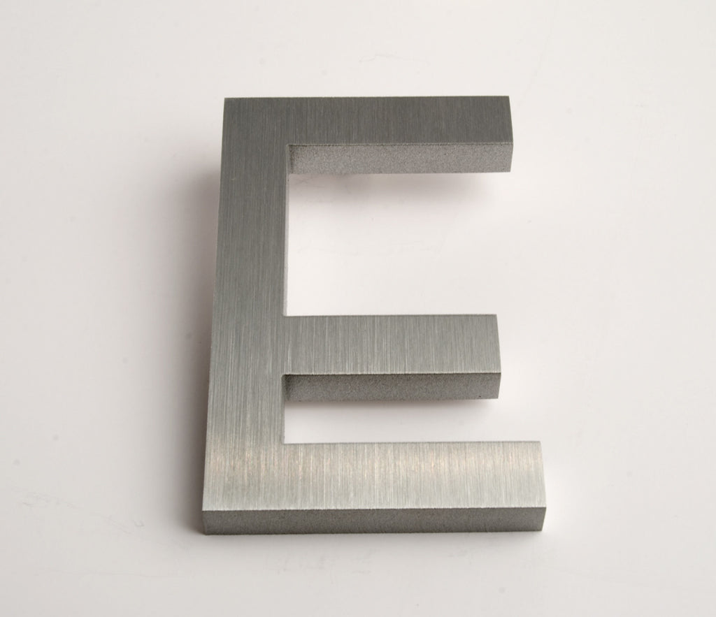 MODERN HOUSE LETTERS BRUSHED E