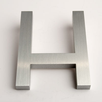 MODERN HOUSE LETTERS BRUSHED H