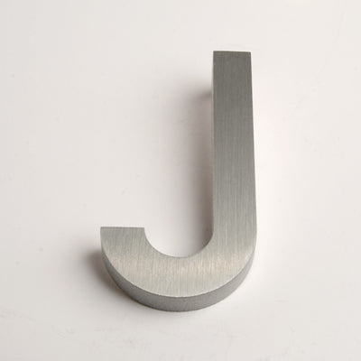 MODERN HOUSE LETTERS BRUSHED J