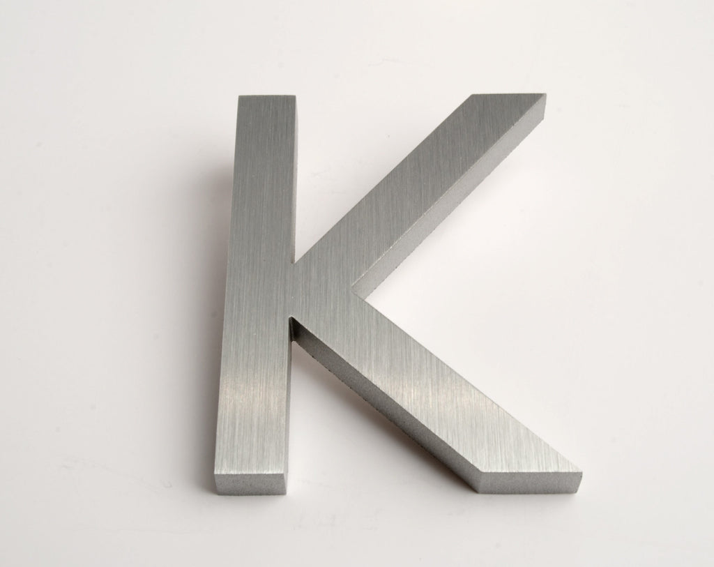 MODERN HOUSE LETTERS BRUSHED K