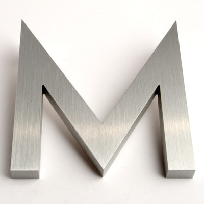 MODERN HOUSE LETTERS BRUSHED M