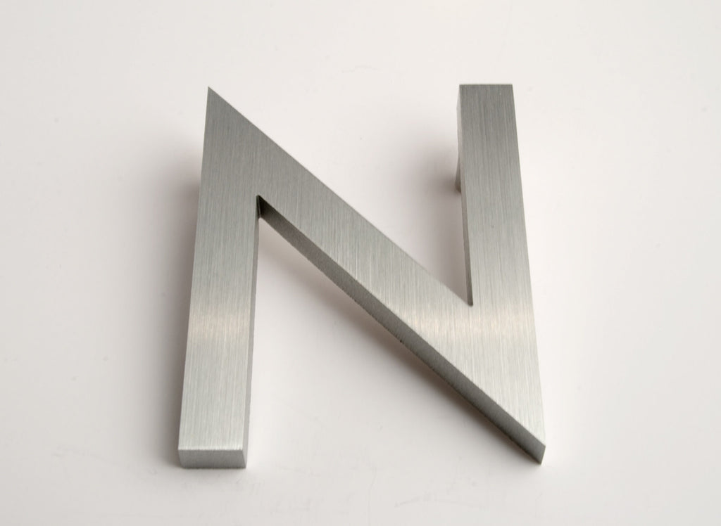 MODERN HOUSE LETTERS BRUSHED N
