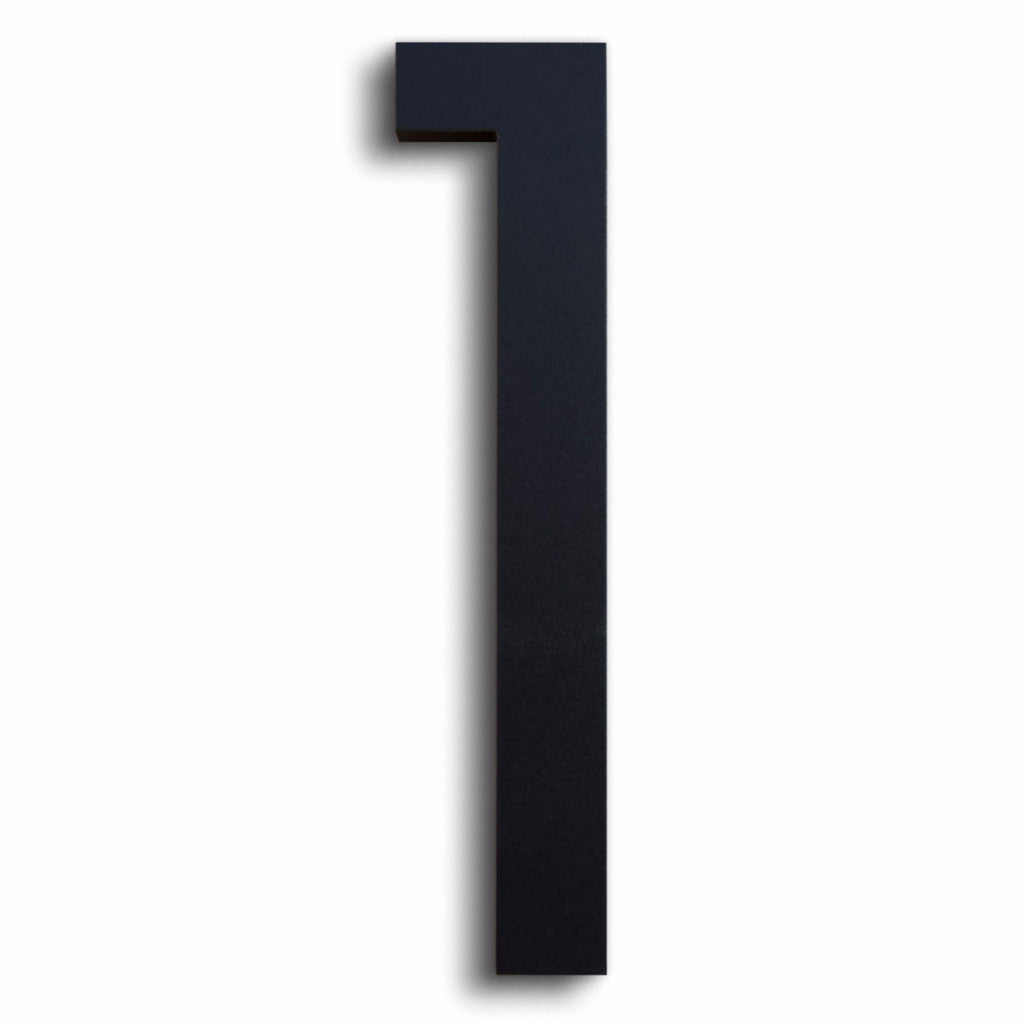 HOUSE NUMBERS MODERN FONT ONE 1 BLACK