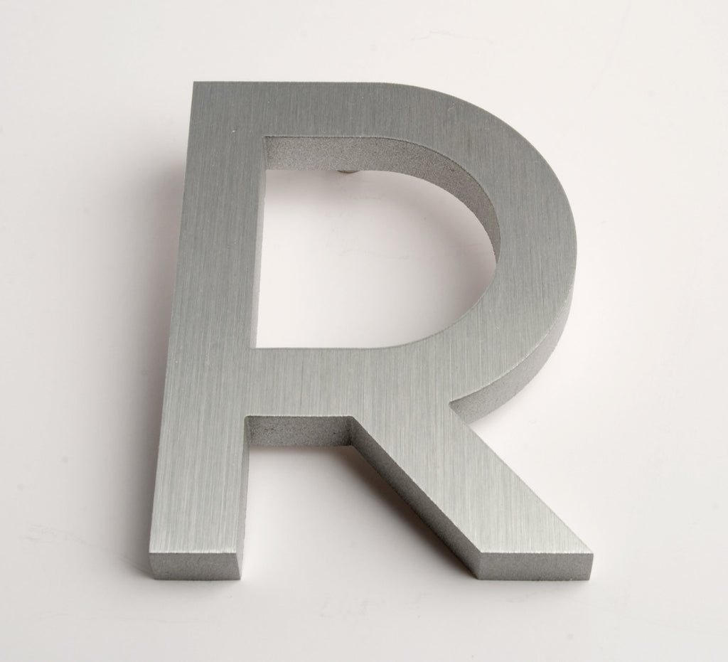 MODERN HOUSE LETTERS BRUSHED R