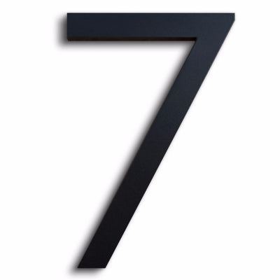 HOUSE NUMBERS MODERN FONT SEVEN 7 BLACK