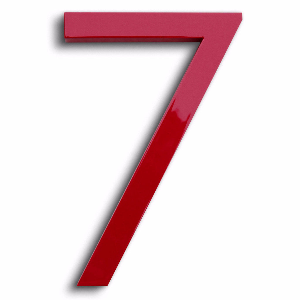 Modern House Number 7 seven  Aluminum Floating