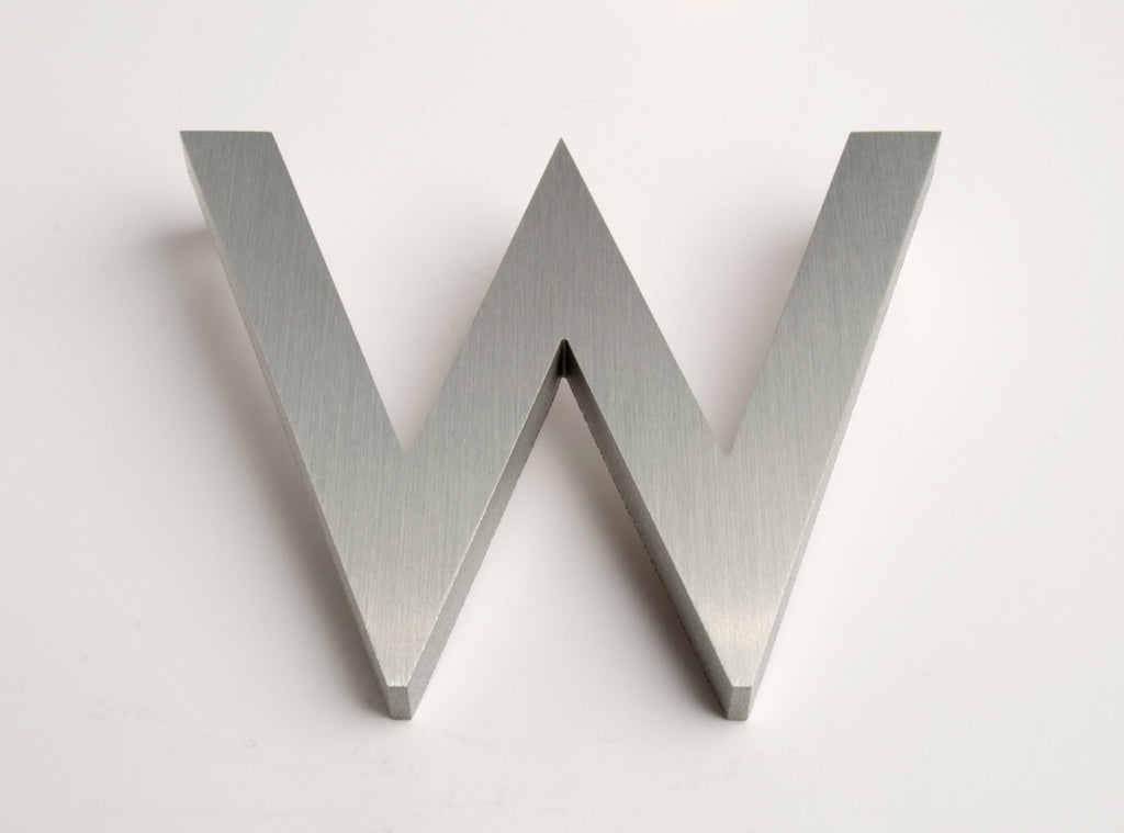 MODERN HOUSE LETTERS BRUSHED W