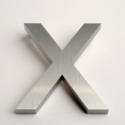 MODERN HOUSE LETTERS BRUSHED X