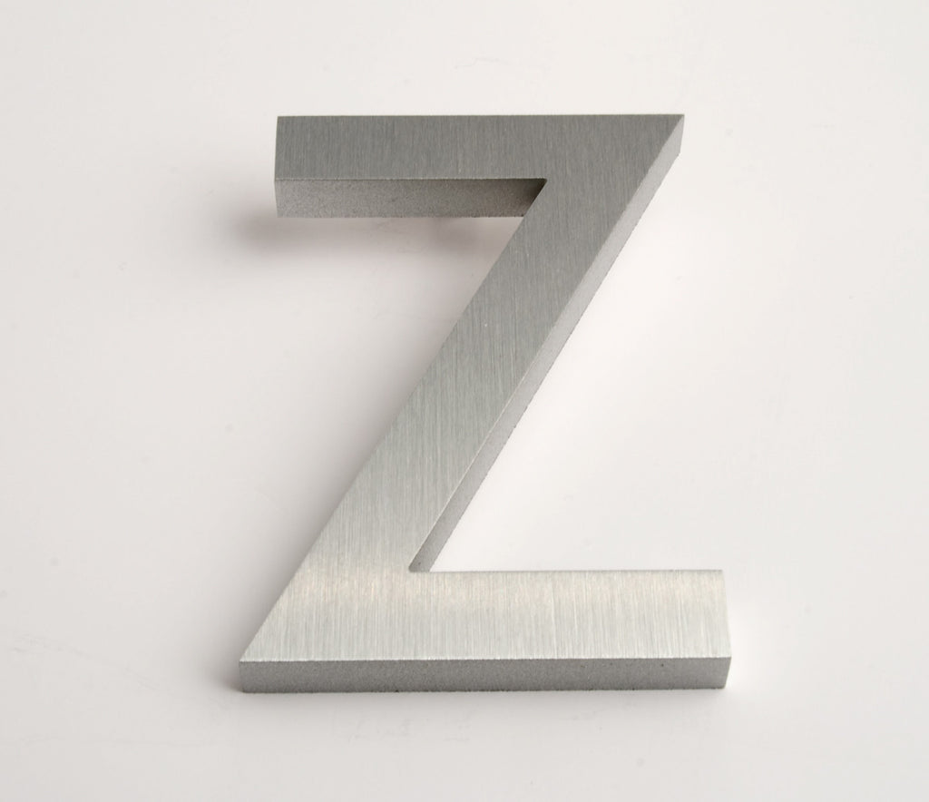 MODERN HOUSE LETTERS BRUSHED Z