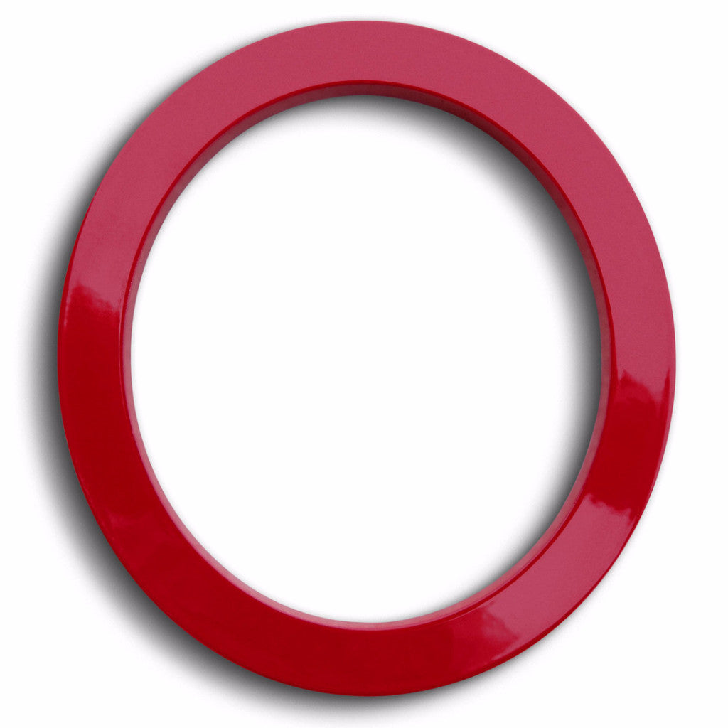 HOUSE NUMBERS MODERN FONT ZERO 0 RED ALUMINUM FLOATING