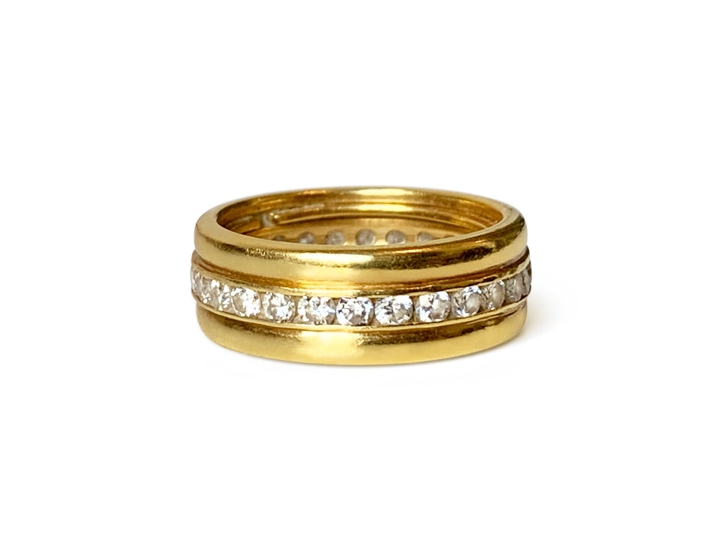 Repurposed Italian 18k Gold & Diamond Eternity Band