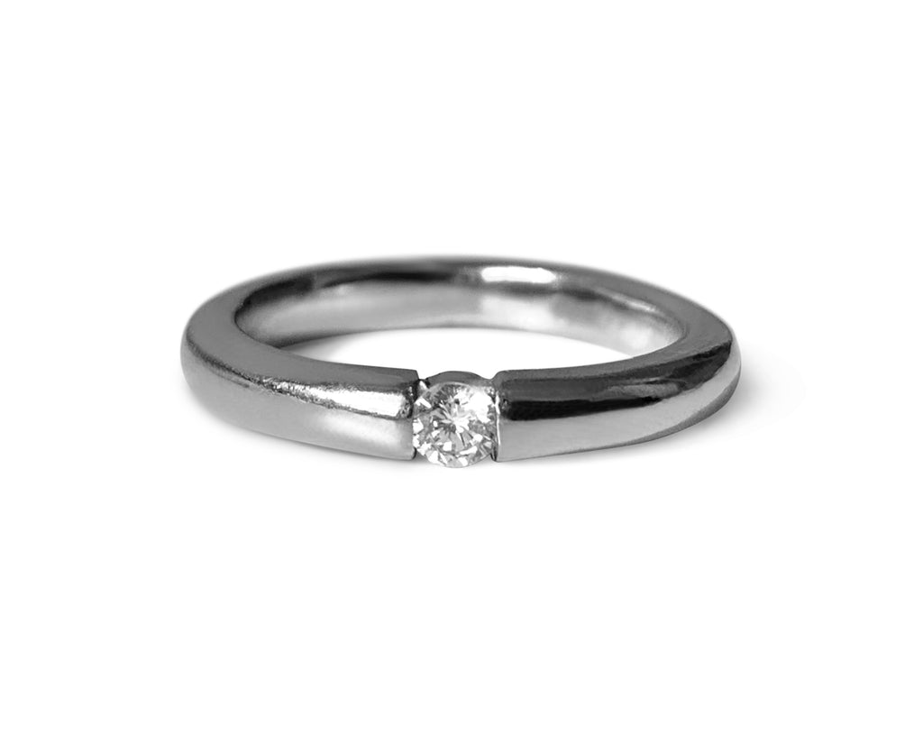 Repurposed 14k White Gold & Diamond Ring