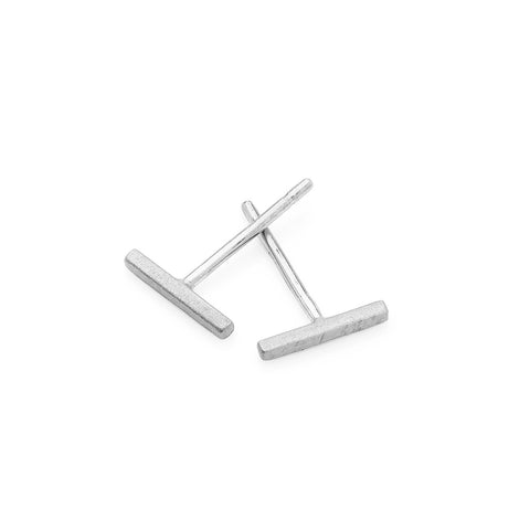 Bar Earrings - Silver