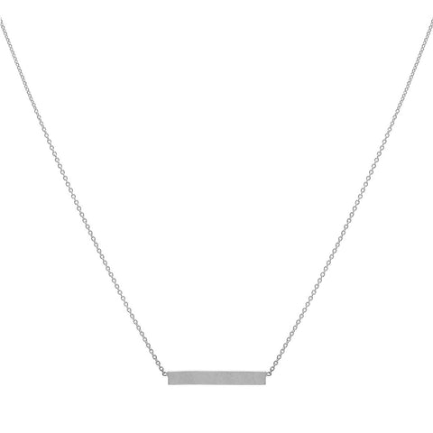 Bar Necklace - Silver