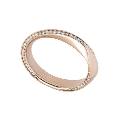 The Möbius - Diamond Eternity Band - All Metals