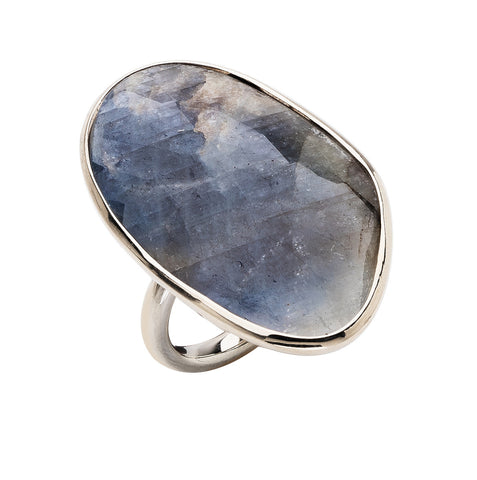Water Sapphire Ring - One-of-a-Kind